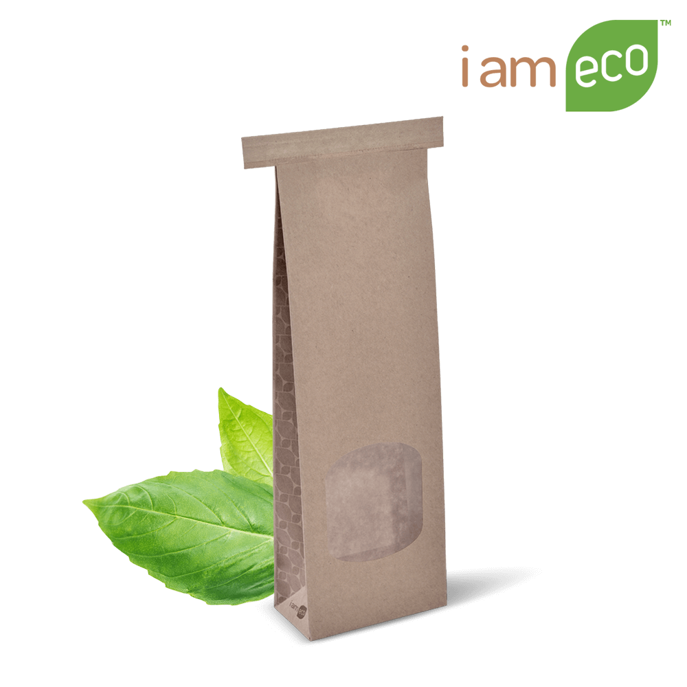 Small Window ECO Tin Tie Bag (packed 500)