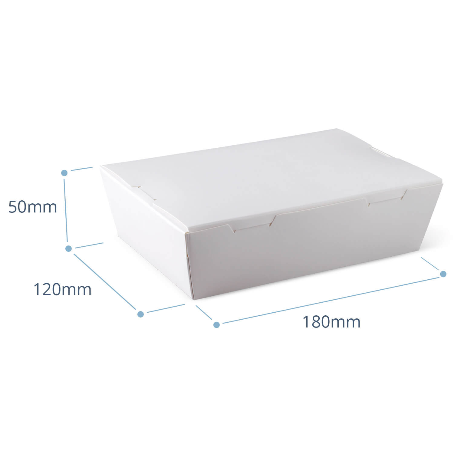 Medium White Takeaway container (packed 200)