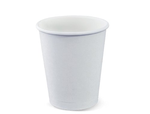 250ml Single wall Hot Cup White (packed 500)