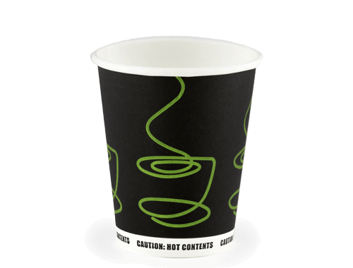 8oz Single wall Hot Cup Green Twirl