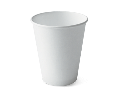 12oz Single wall Hot Cup White