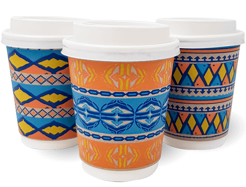 12oz Double wall African Spirit Cup Combo
