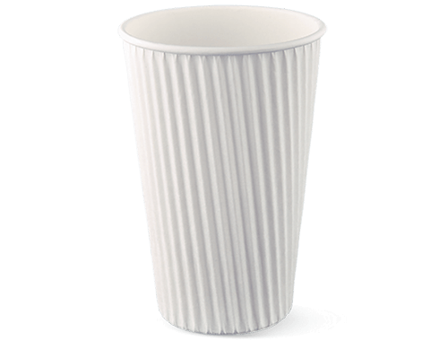 16oz Ripple-wrap White