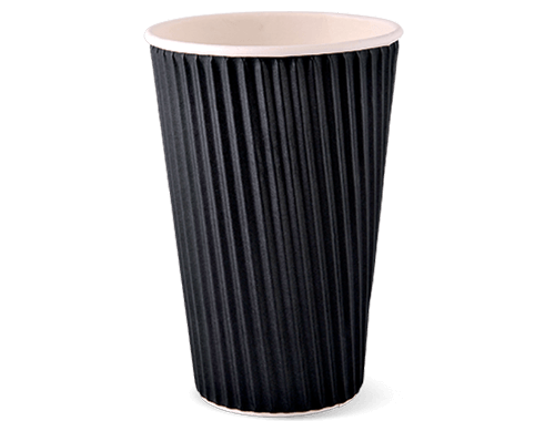 16oz Ripple-wrap Black